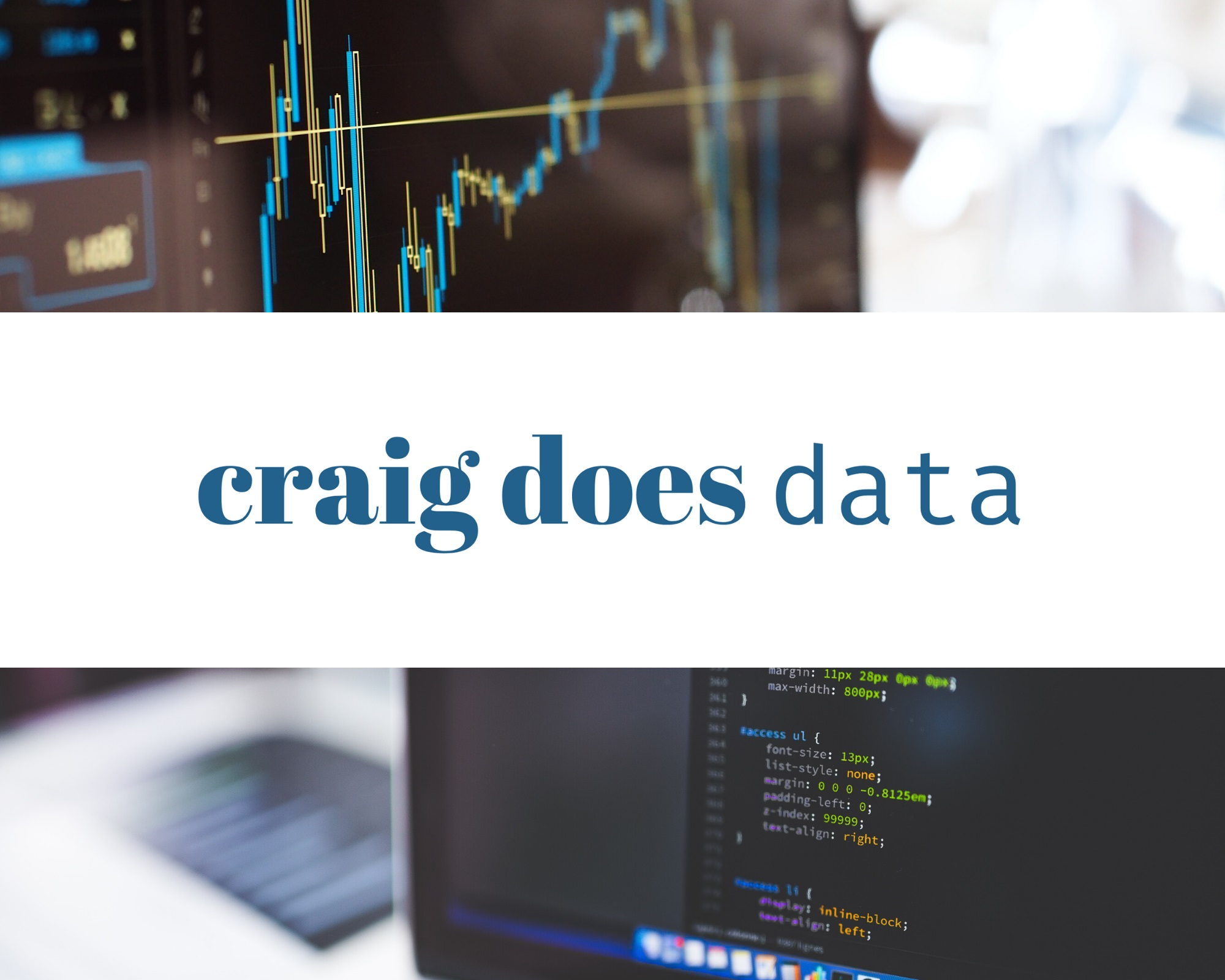 Some craigdoesdata branding images